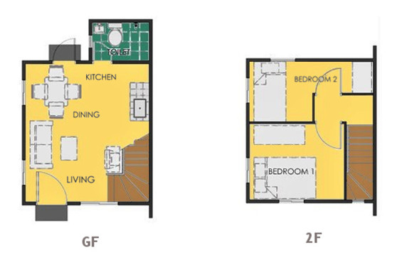 Ravena Floor Plan House and Lot in Amadeo