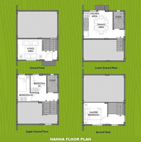 Hanna Floor Plan House and Lot in Amadeo