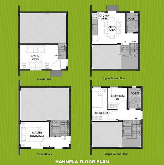Hannela Floor Plan House and Lot in Amadeo