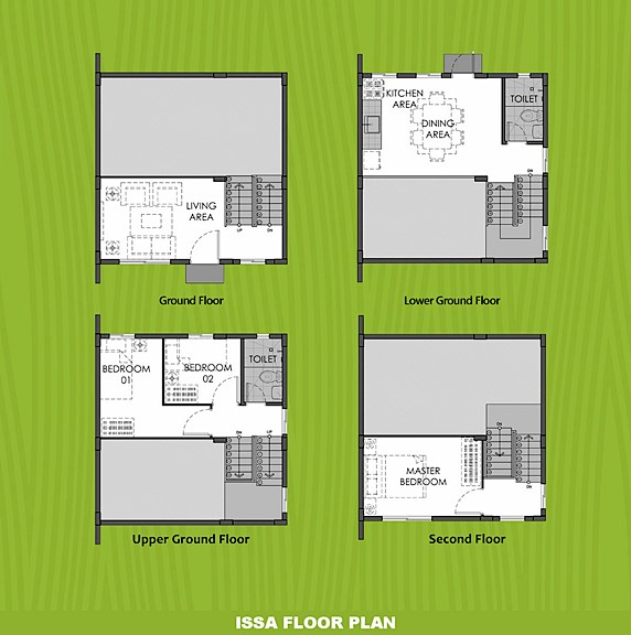 Issa Floor Plan House and Lot in Amadeo