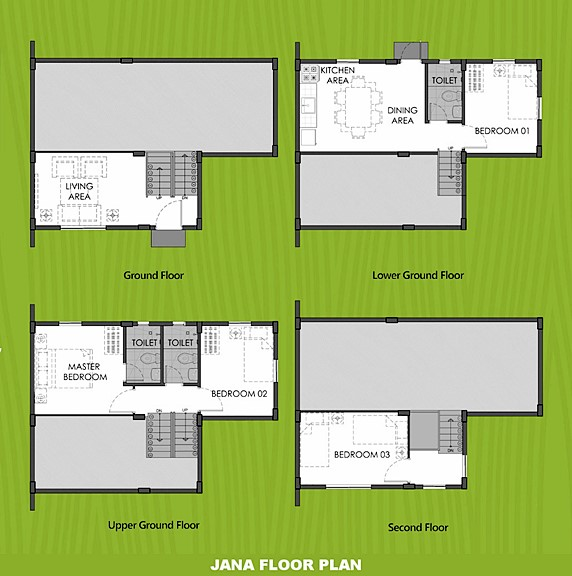 Janna Floor Plan House and Lot in Amadeo