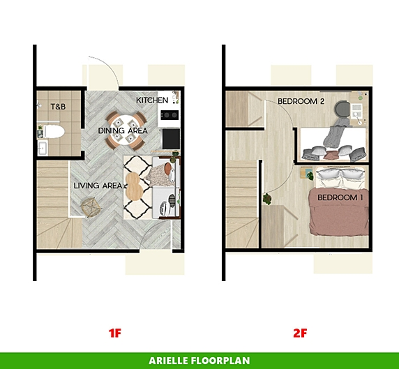 Arielle Floor Plan House and Lot in Amadeo