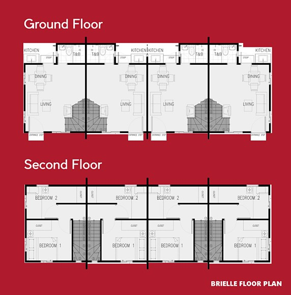 Brielle Floor Plan House and Lot in Amadeo