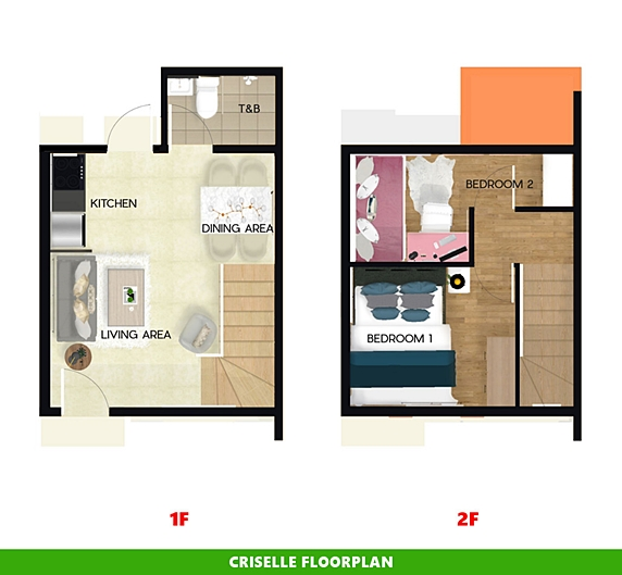 Criselle Floor Plan House and Lot in Amadeo