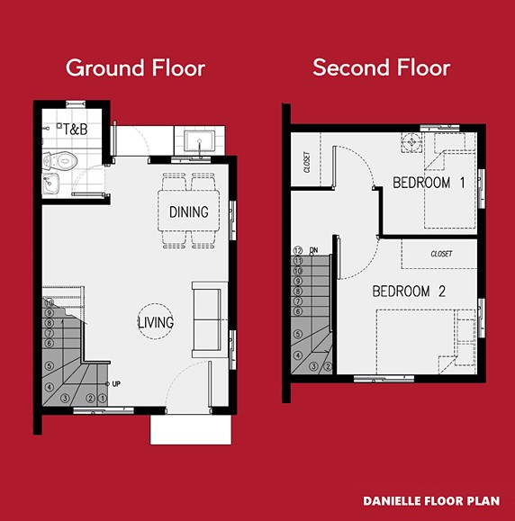 Danielle Floor Plan House and Lot in Amadeo