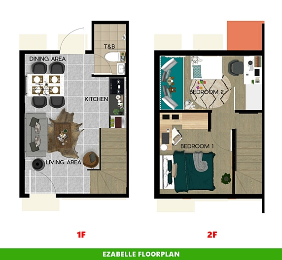 Ezabelle Floor Plan House and Lot in Amadeo