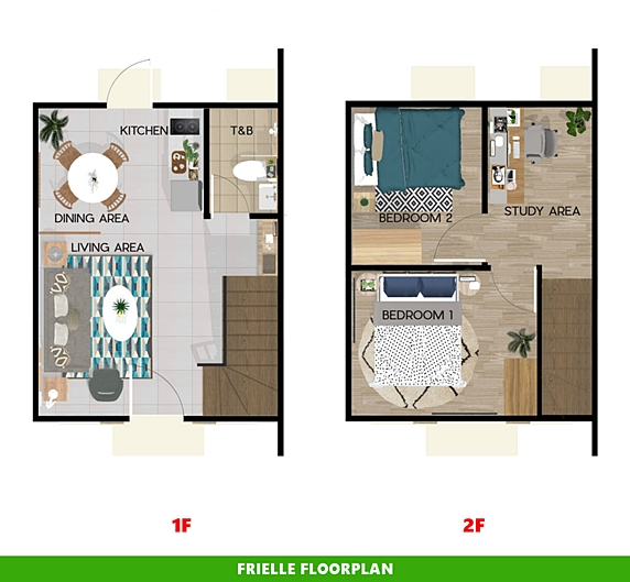 Frielle Floor Plan House and Lot in Amadeo
